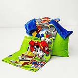 Рукоплед Плед з рукавами з мікрофібри з малюнками дитячий 125х80 Щенячий зелений патруль SKL20-277454, фото 3