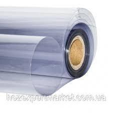 Плівка ПВХ силіконова, 100 мкм - 1,5х154м.Гнучке скло,м'яке скло,прозора,на вікна столи