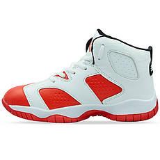 Баскетбольные кроссовки детские Jordan бело-красные 1802-1, 31, фото 3