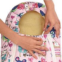 Зимний конверт в коляску на натуральной овчине, кокон чехол для коляски Baby розовый, фото 3