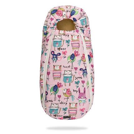 Зимний конверт в коляску на натуральной овчине, кокон чехол для коляски Baby розовый, фото 2