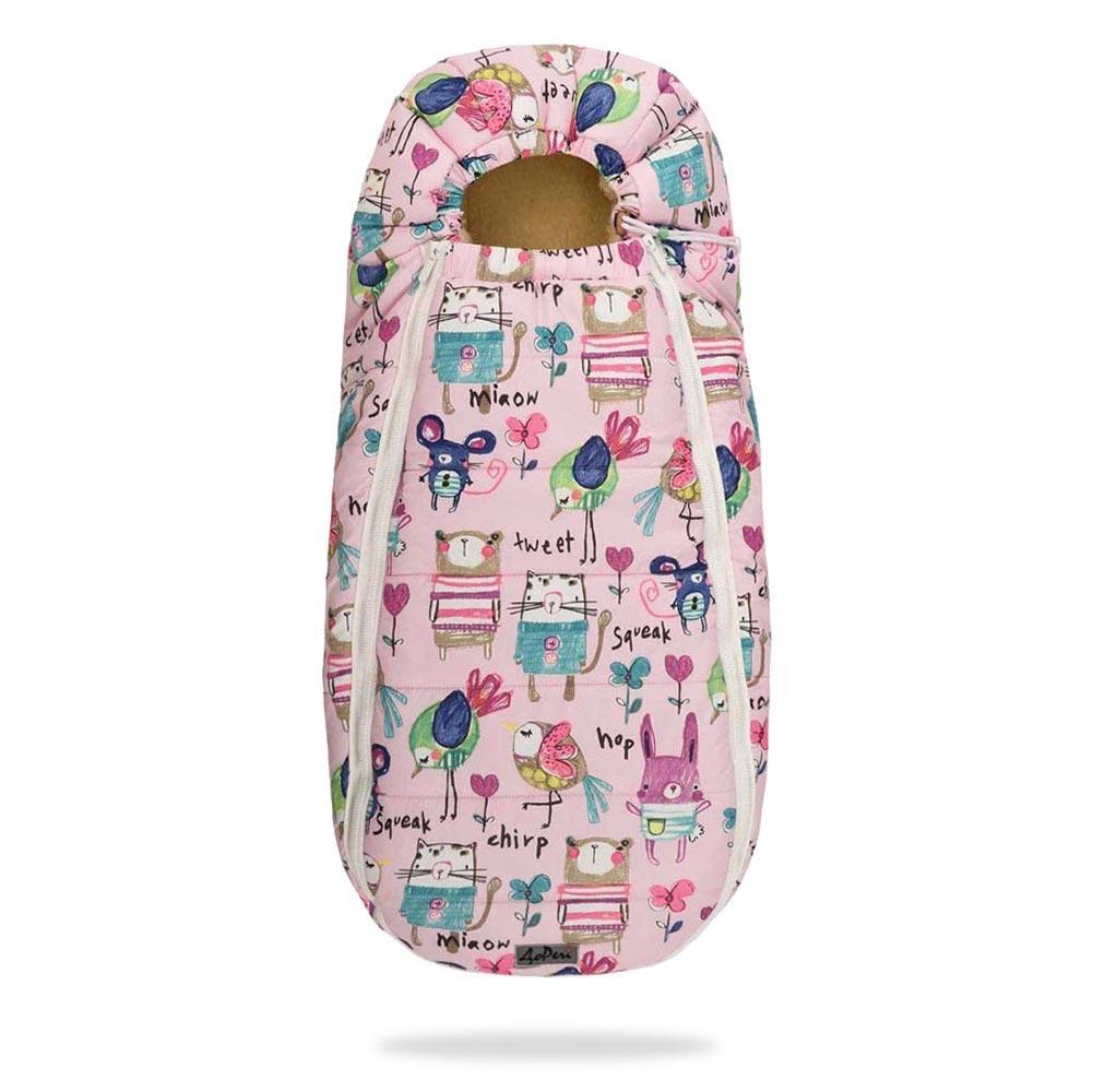 Зимний конверт в коляску на натуральной овчине, кокон чехол для коляски Baby розовый