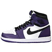 Мужские кроссовки Nike Air Jordan 1 Retro High OG Court Purple, кроссовки найк аир джордан 1 Retro All Star