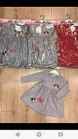 Плаття для дівчинки на 2-5 років червоного, сірого кольору в горошок Мінні оптом