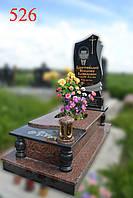 Пам'ятник з капустинського граніту і габро, фото 1