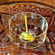 Набор для изготовления чайной свечи с содержанием воска 15г (контейнер чайной свечи, фиксатор фитиля, фитиль)