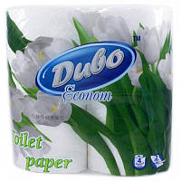 Папір туалетний Диво Econom 2-х шаровий 4 рулони білий (тп.де.4б)