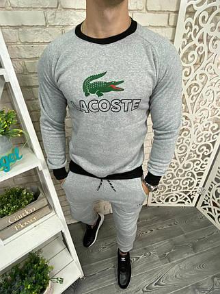 "Мужской спортивный костюм в стиле Lacoste, ткань ""Трикотаж трехнитка"" на флисе 48 размер, фото 2"