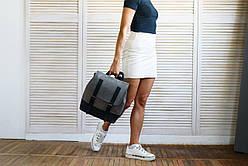 Рюкзак шкіряний LR-09 Сірий