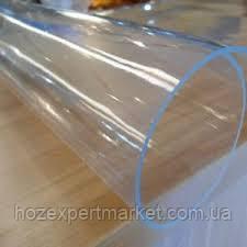 Плівка ПВХ силіконова,НА МЕТРАЖ 300 мкм (0.3 мм) ширина 1.5 м,прозора,на вікна,столи