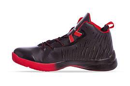 Баскетбольные кроссовки Jordan черно-красные W8509-2, 42, фото 3