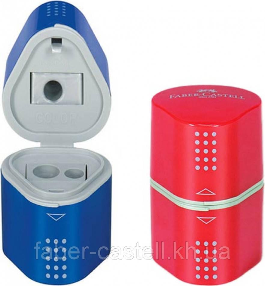Точилка Faber-Castell TRIO Grip 2001 на 3 отверстия с контейнерами, 183801