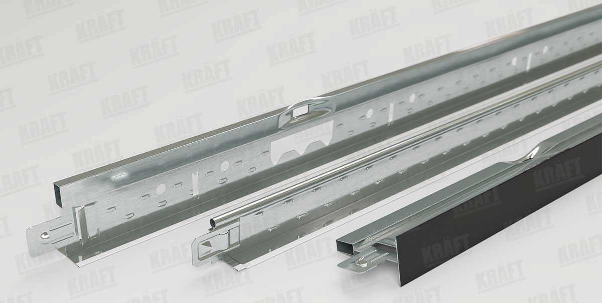Профиль 600 мм KRAFT Fortis T-24, RAL 9003
