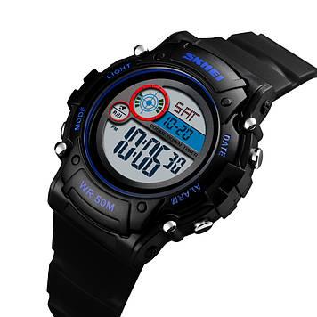 Детские часы SKMEI 1477 черные спортивные