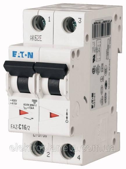 Автоматический выключатель Eaton/Moeller 2pol PL6-C 16A