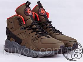 Мужские кроссовки Nike Air Huarache Winter Dark Green