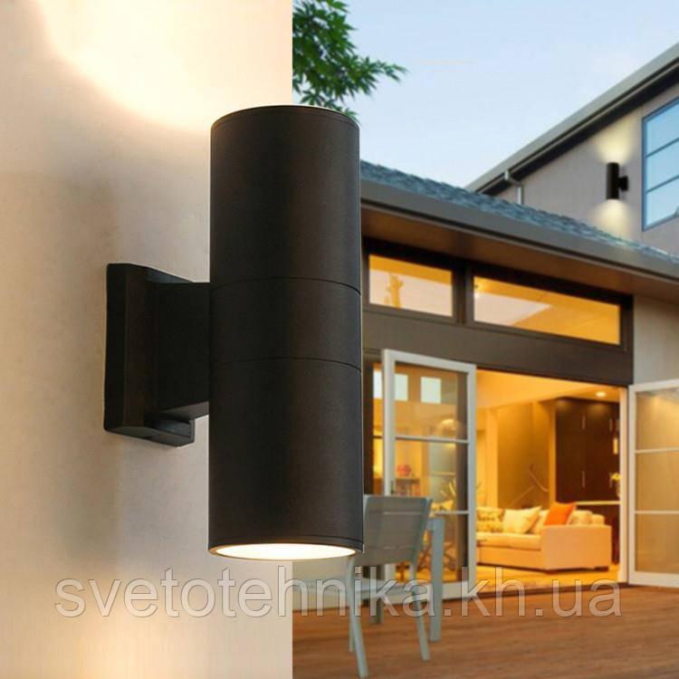 Архитектурный светильник-бра настенный Feron DH0702 черный Е27 IP54 2*60w