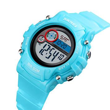Детские часы SKMEI 1477 голубые спортивные