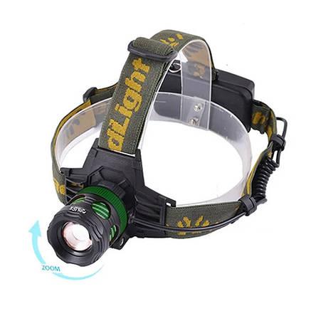 Фонарь на лоб Police 6813-T6, zoom, 12V, фото 2