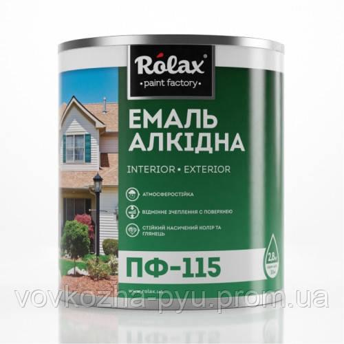 Ролакс эмаль ПФ-115 белая 0.25кг