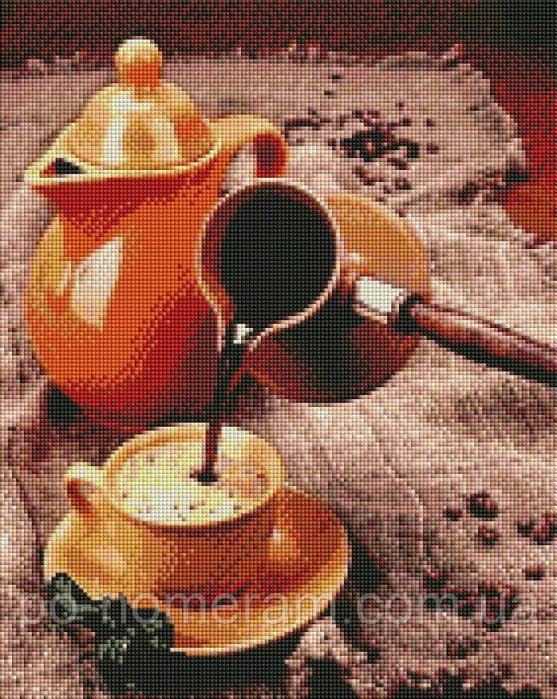 Алмазная вышивка ArtStory Ароматный кофе (ASM12) 40 х 50 см (На подрамнике)
