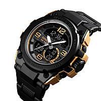 Спортивные мужские часы Skmei SHARK 1452 золотые