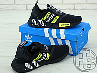 "Мужские кроссовки Adidas NMD x Off-White ""Virgil"" Black/Yellow BA7787"