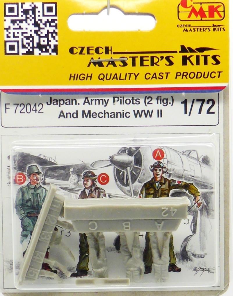 3 фигурки японские пилоты и техник в масштабе 1/72. CMK F72042