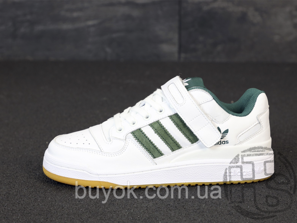 Мужские кроссовки Adidas Originals Forum Low Green/White-Gum AQ1261