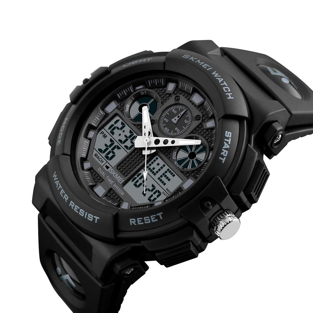 Мужские спортивные часы Skmei 1270 черные