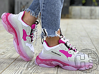 Женские кроссовки Balenciaga Triple S Clear Sole White Pink 544351W09ON9025