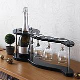 Набор для вина на 4 рюмки-Волна Гранд Презент SS07266, фото 3