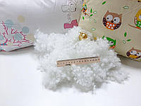 Холлофайбер. Шарик холлофайбер белый MIX 1й сорт. Наполнитель для подушок и игрушек.