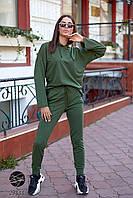 Модный женский спортивный костюм из худи и джоггеров