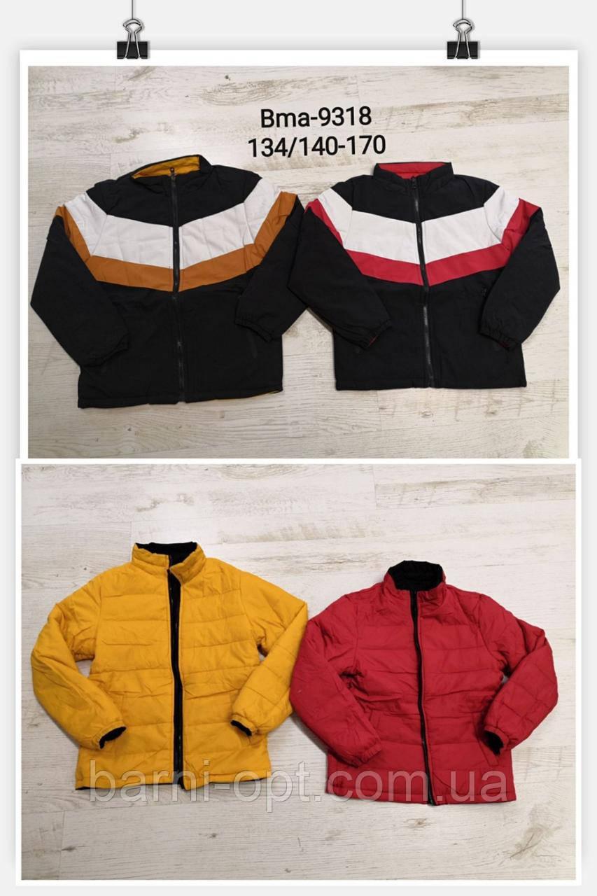 Двосторонні куртки на хлопчиків оптом, Glo-story, 134/140-170 рр