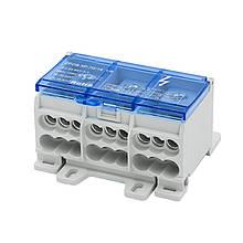 Блок распределительный трехполюсный 125A/3 на DIN-рейку