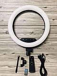 Профессиональная светодиодная кольцевая лампа 36 см AL-360 + штатив (0,7-2м) кольцевой свет, селфи лампа, фото 5
