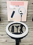 Профессиональная светодиодная кольцевая лампа 36 см AL-360 + штатив (0,7-2м) кольцевой свет, селфи лампа, фото 6
