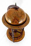 Глобус бар напольный на 3-х ножках коричневый 46.8*46.8*90 см Гранд Презент 36001R, фото 2