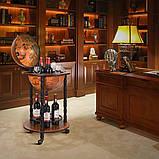 Глобус бар напольный на 3-х ножках коричневый 46.8*46.8*90 см Гранд Презент 36001R, фото 3