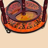 Глобус бар напольный на 3-х ножках коричневый 46.8*46.8*90 см Гранд Презент 36001R, фото 6