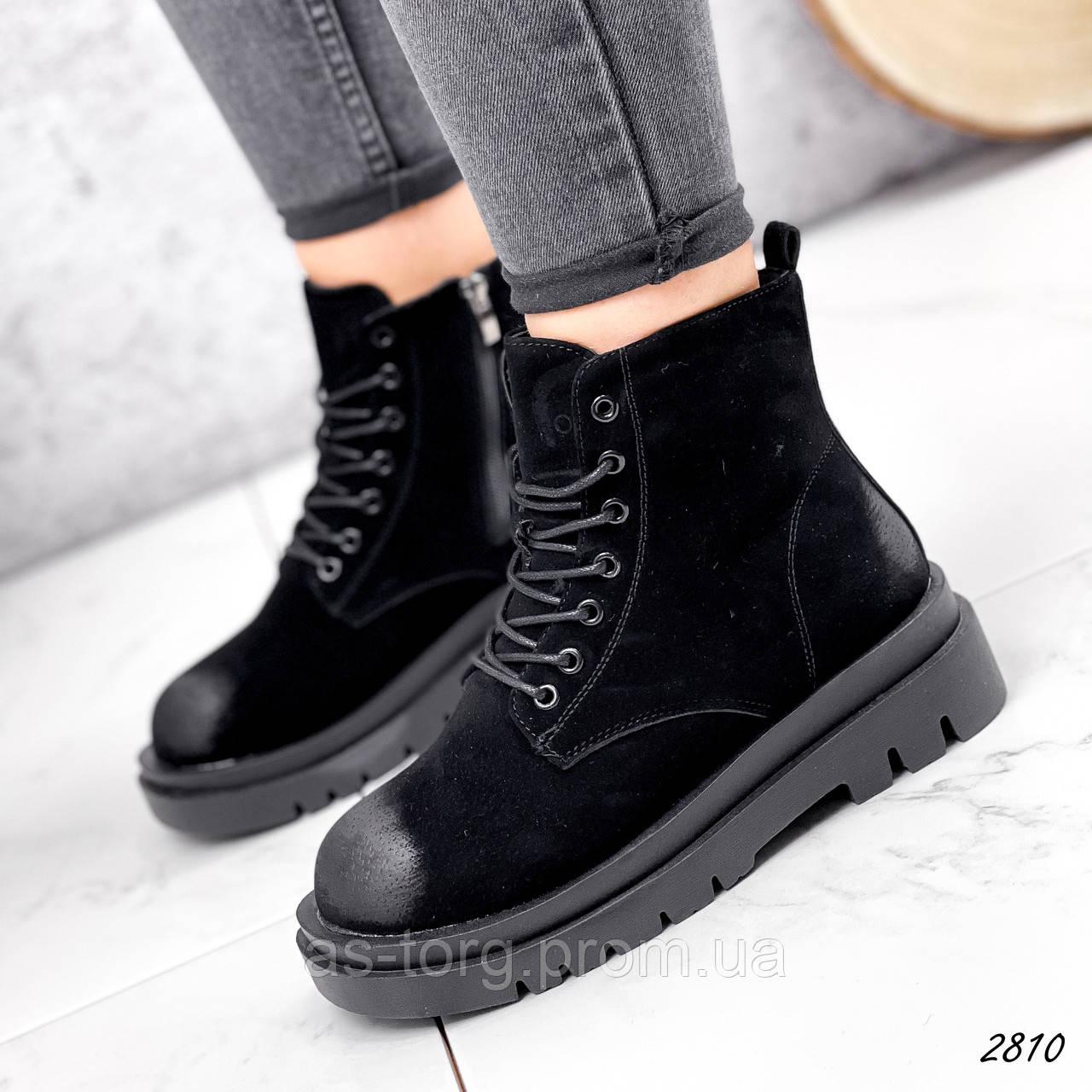 Ботинки женские Nies черный 2817