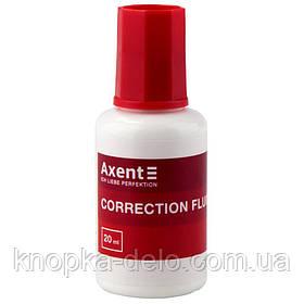 Жидкость корректирующая Axent 7001-А с кисточкой 20 мл. Материал кисточки - нейлон. Упаковка: дисплей.