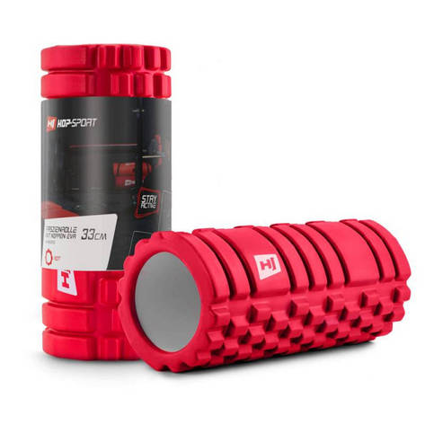 Роллер масажер EVA 33 см HS-A033YG red, фото 2
