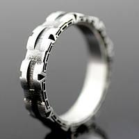 """Серебряное обручальное кольцо """"Звездные врата"""" от WickerRing"""