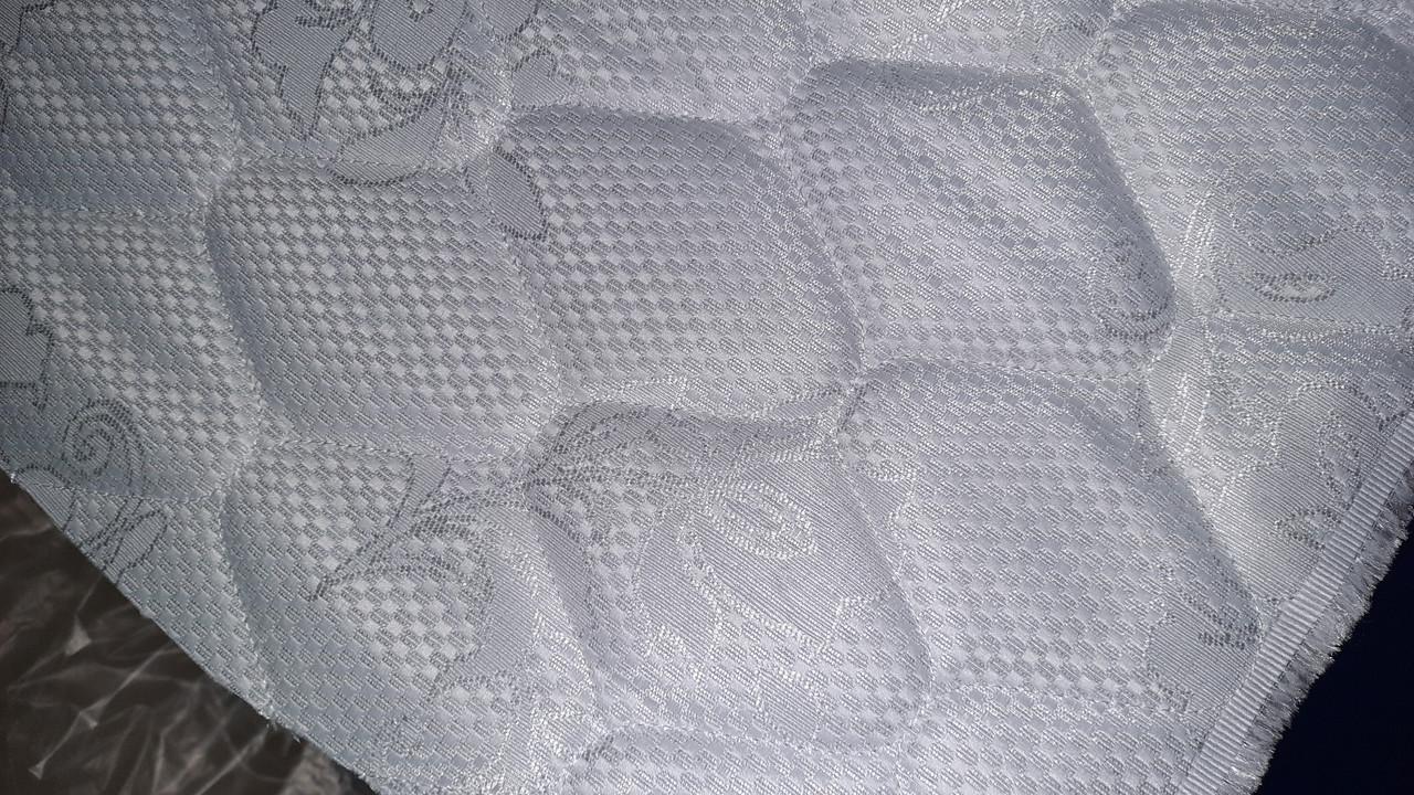 Матрасная ткань стеганая на 150 синтепоне двойной жаккард Белая 195