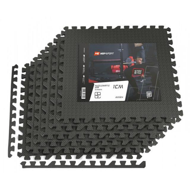 Мат-пазл EVA 1cm HS-A009PM - 6 частин чорний