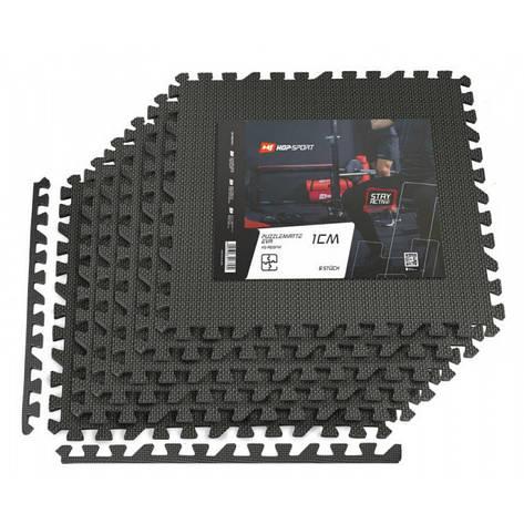 Мат-пазл EVA 1cm HS-A009PM - 6 частин чорний, фото 2