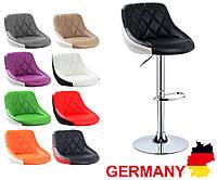 Хокер барный стул из кожзама BS187 закруглений для барной стойки Германия А1