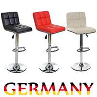 Барный стул хокер из кожзама Woltu для барной стойки квадратный Германния А1